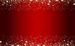 Das estrelas douradas das part?culas do champanhe das fa?sca-bolhas do brilho das cachoeiras conceito preto do feriado do ano nov ilustração do vetor