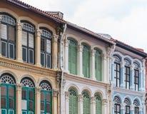 Das europäische Artgebäude des alten comerce Shops Lizenzfreie Stockbilder
