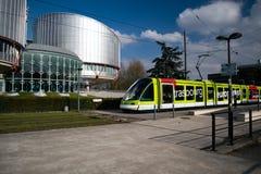 Das Europäische Gerichtshof für Menschenrechte lizenzfreie stockfotografie