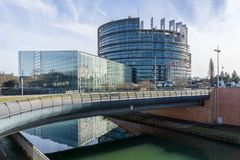 Das Europäische Parlament, Straßburg lizenzfreie stockfotos
