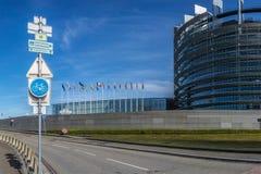Das Europäische Parlament, Straßburg stockfoto