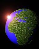 Das Europa und das Afrika wird durch Gras bedeckt stock abbildung