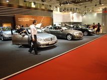 Das exibithion von Mercedes Stockfotografie