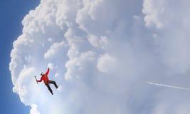 Das extreme Klettern ist seine Adrenaline Gemischte Medien Lizenzfreie Stockbilder
