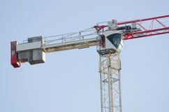 Das Fahrerhaus des Gegengewicht- und Turmkranbetreibers lizenzfreies stockbild