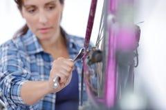 Das Fahrrad zerteilt Versammlungsteilnehmer lizenzfreies stockfoto