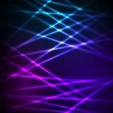 Das Fallen von Linien glühender Effekt streift Hintergrund Lizenzfreie Stockfotografie