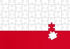 Das falsche Puzzlespielstück Stockbilder