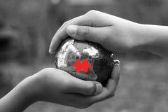 Das fehlende Link - B&W und Rot Lizenzfreie Stockbilder