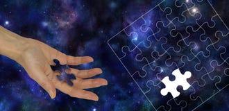 Das fehlende Stück des Universums Stockbilder