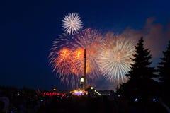 Das feierliche Feuerwerk Stockbild