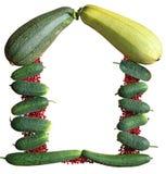 Das Feld ist Gemüse Lizenzfreie Stockfotos