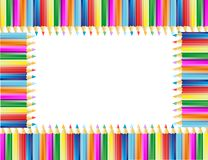 Das Feld von den Bleistiften Stockbilder