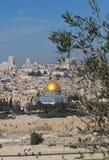 Das Felsendom auf dem Tempelberg in Jerusalem, Israel lizenzfreies stockfoto