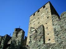 Das Fenis Schloss, gelegen nahe Aosta, Italien Lizenzfreies Stockbild