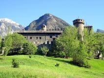 Das Fenis Schloss, gelegen nahe Aosta, Italien Stockbild