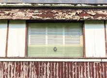 Das Fenster auf dem Blockwagen alt Lizenzfreies Stockfoto