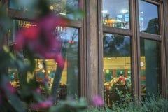 das Fenster in der Stadt Stockfotos