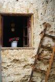 Das Fenster des Hauses der Dulong Nationalität Lizenzfreie Stockfotos