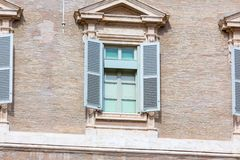 Das Fenster von Weekly Address des Papstes lizenzfreie stockbilder