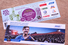 Das Fest tickets Stock Image