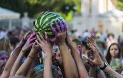 Das Festival der Wassermelone Stockfotos