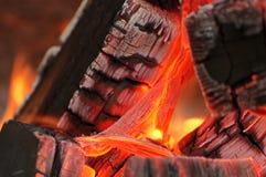 In das Feuer Lizenzfreies Stockfoto