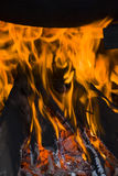 Das Feuer in der Ofenkammer Stockfotografie