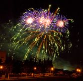 Das Feuerwerk Lizenzfreies Stockfoto