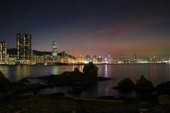 das Fischental bei Sonnenuntergang, Lei Yue Mun lizenzfreie stockfotos