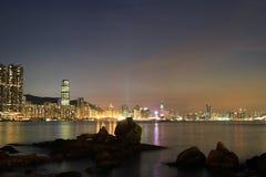 das Fischental bei Sonnenuntergang, Lei Yue Mun stockfoto