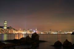das Fischental bei Sonnenuntergang, Lei Yue Mun lizenzfreies stockbild