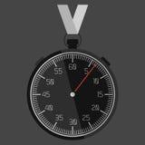 Das flache Design der Stoppuhr mit den Zahlen Stockbild