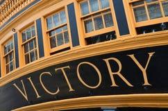 Das Flaggschiff des Lords Nelson am Kampf von Trafalgar Lizenzfreies Stockbild
