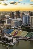 Das Floss bei Marina Bay Stockfotografie