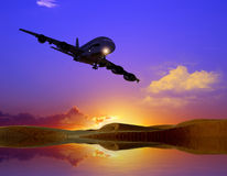 Das Flugzeug stockbild