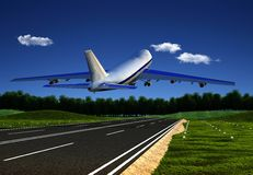 Das Flugzeug lizenzfreies stockfoto