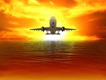 Das Flugzeug Lizenzfreies Stockbild