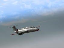 Das Flugzeug im Himmel Stockbilder