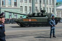 Das Flugzeug säubert Parade eines Sieges in Moskau Lizenzfreies Stockbild