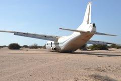 Das Flugzeug zerschmettert stockfotografie