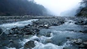 Das Flussbett Vandam Chay Dorf Vandam Gabala azerbaijan stock video footage