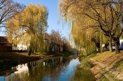 Das Flussufer von Koros in Gyula Lizenzfreie Stockfotos