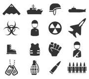 Das forças armadas ícones simplesmente Fotografia de Stock