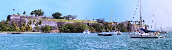 Das Fort-Saint Louis, Martinique-Insel, Französische Antillen Stockbilder