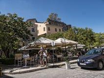 Das Fort und der Jachthafen auf der griechischen Insel von Korfu Lizenzfreie Stockfotos