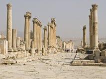 Das Forum, Jerash stockfotos