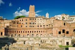 Das Forum von Trajan in Rom Stockfoto