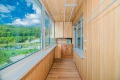 Das Foto eines hellen Balkons lizenzfreies stockfoto