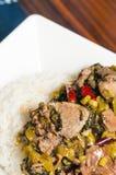 Chinesisches Nahrung-in Essig eingelegtes Gemüserindfleisch Lizenzfreies Stockfoto